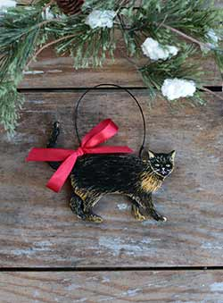 Cat Personalized Ornament - Tortoiseshell