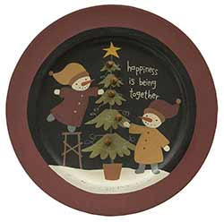 Being Together Snowman Plate