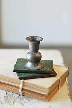 Pewter Look Alette Candle Holder - 3 inch