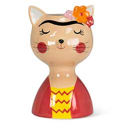 Cat with Eyebrows Large Vase