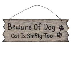 Beware of Dog & Cat Sign