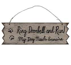 Ring Doorbell and Run Sign