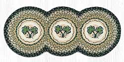Shamrock Braided Tri Circle Table Runner