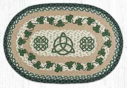 Irish Shamrock Braided Rug