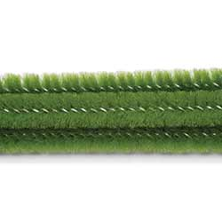 Moss Green Chenille Stems, 6 mm (25 pack)