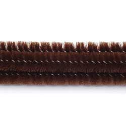 Brown Chenille Stems, 6 mm (25 pack)