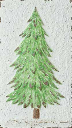 Embossed Fir Tree Wall Decor