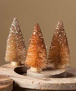 Fall Sparkle Bottlebrush Trees (Set of 3)
