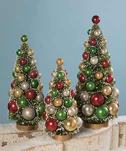 Traditional Bottlebrush Trees (Set of 3)