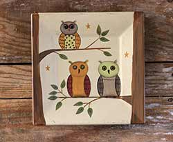 Owls in Trees Plate