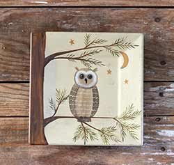 Owl on Branch Plate