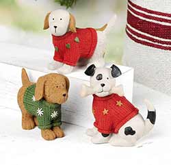 Dogs in Christmas Sweaters (Set of 3)