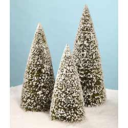 Olive Green Extra Large Bottle Brush Trees (Set of 3)