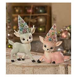 Pastel Reindeer with Trees (Set of 2)