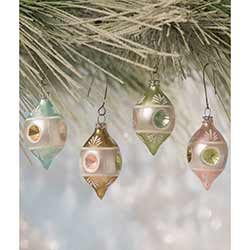 Pastel Teardrop Indent Ornaments (Set of 4)