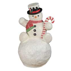 Large Paper Mache Snowman on Snowball