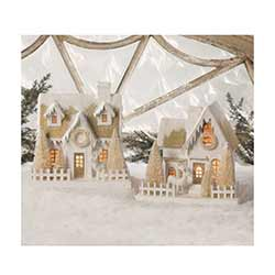 Peaceful Putz Houses (Set of 2)