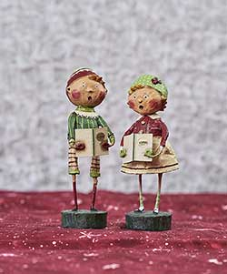 Henry and Holly Come A Caroling (Set of 2)