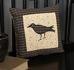 Kettle Grove Crow Pillow - Small