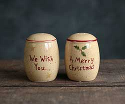 Holiday Sentiments Salt & Pepper Shakers