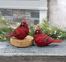 Cardinal & Poinsettia Decor