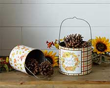 Fall Boxes, Buckets, and Tins