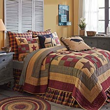 Hazelwood Ninepatch Star Quilt Set