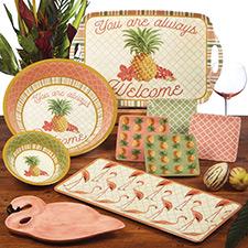 Flamingo & Pineapple Decor