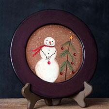 Primitive Christmas Decorative Plates