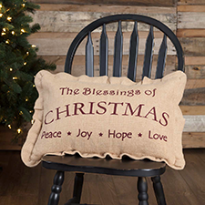 Primitive Christmas Pillows & Throws