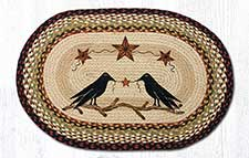 Primitive Braided Rugs with Artwork
