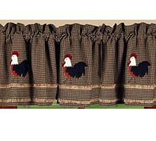 Rooster Valances & Curtains