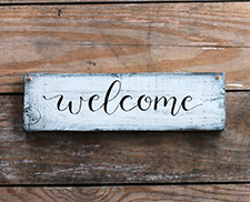 Welcome & Entryway Wood Signs