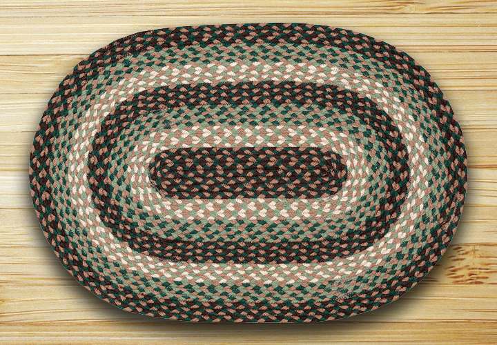 Green Braided Rug, by Capitol Earth Rugs