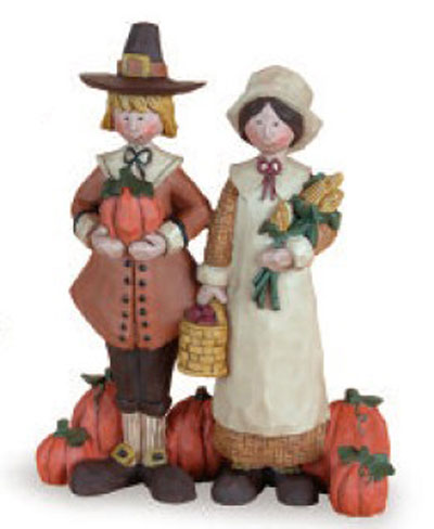 Tall Pilgrims with Harvest, by Blossom Bucket