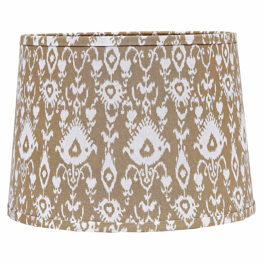 10 inch cream ikat drum lamp shade by raghu the weed patch. Black Bedroom Furniture Sets. Home Design Ideas