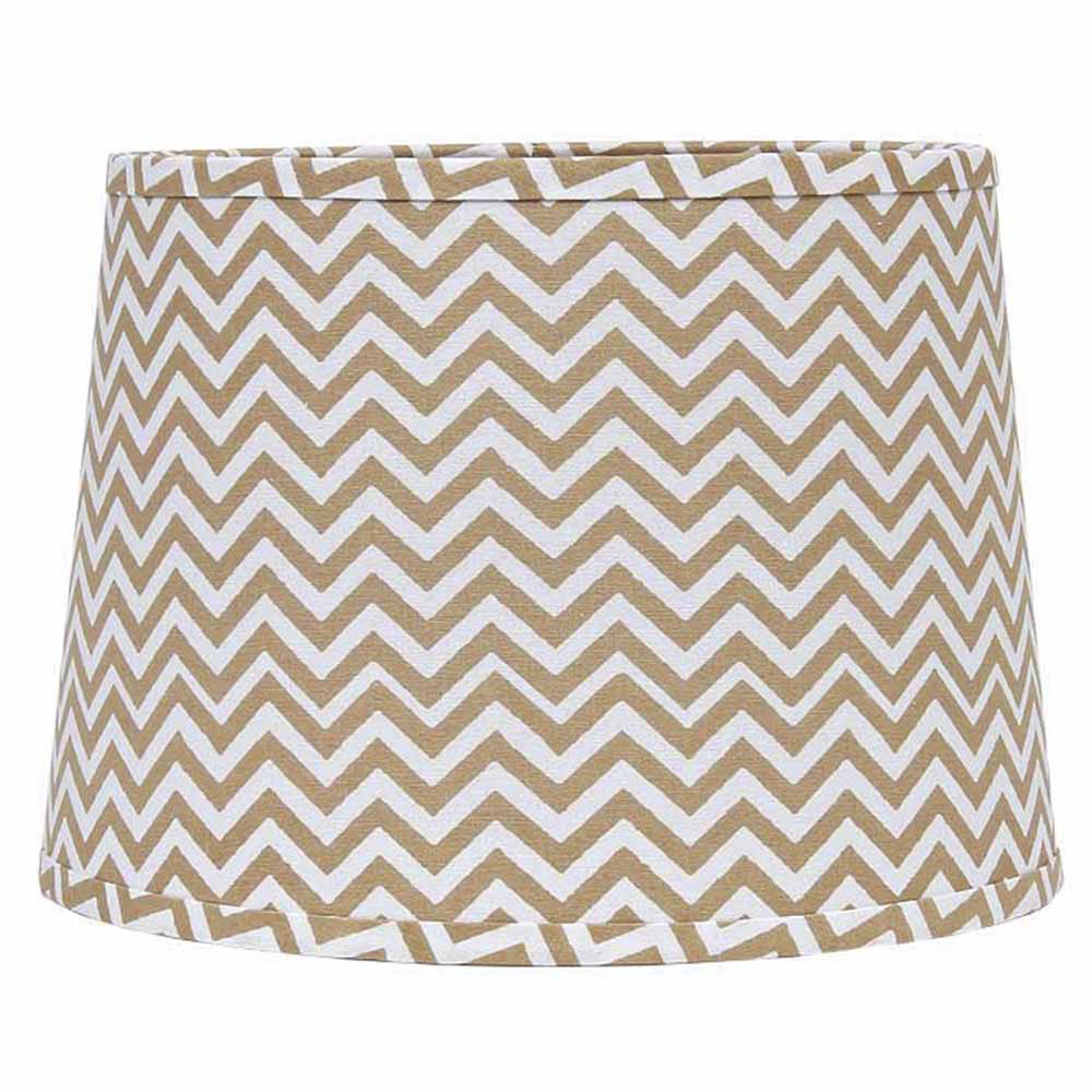 10 inch natural and white chevron drum lamp shade by. Black Bedroom Furniture Sets. Home Design Ideas
