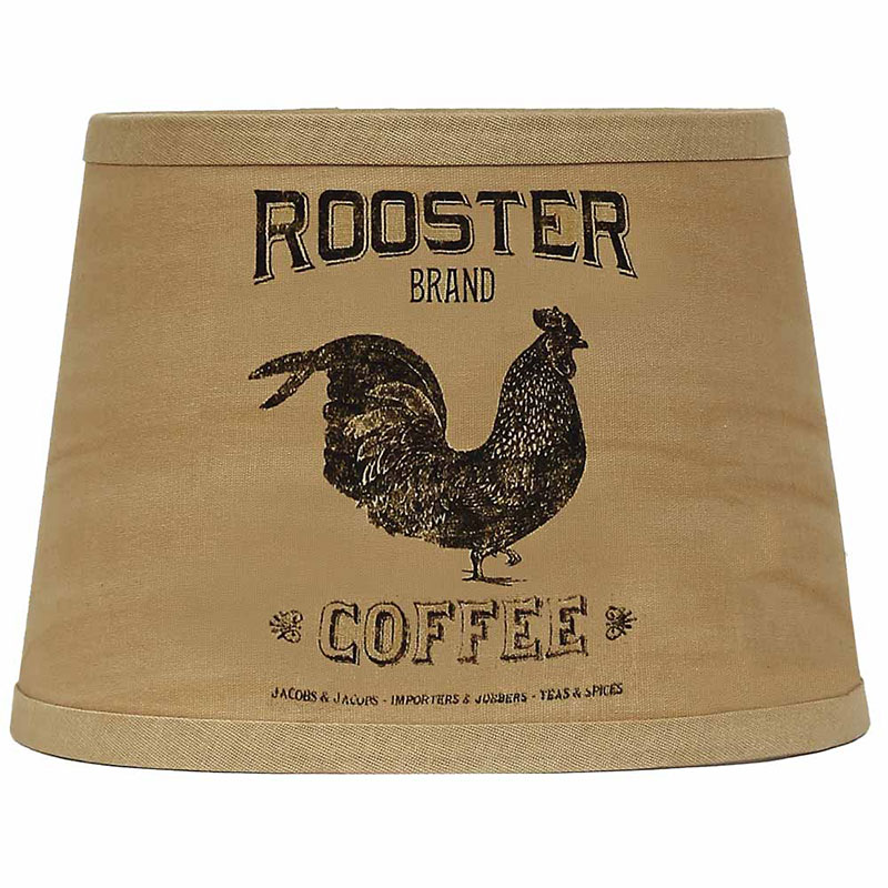 10 inch rooster brand coffee shade lamp shade by raghu