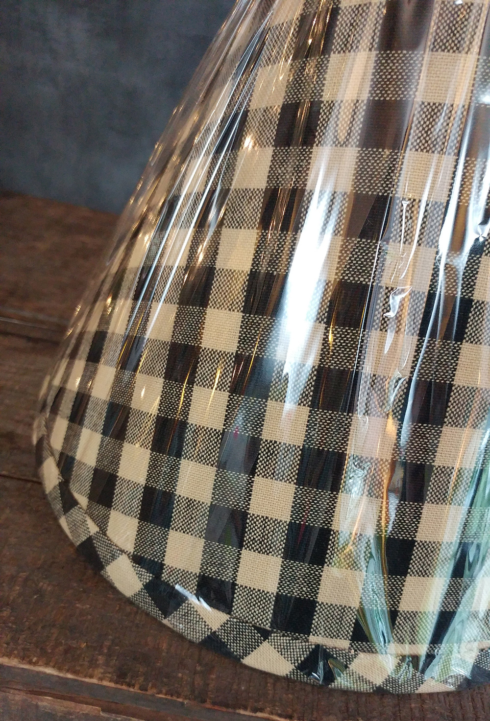 16 Inch Heritage House Check Black Lampshades By Raghu