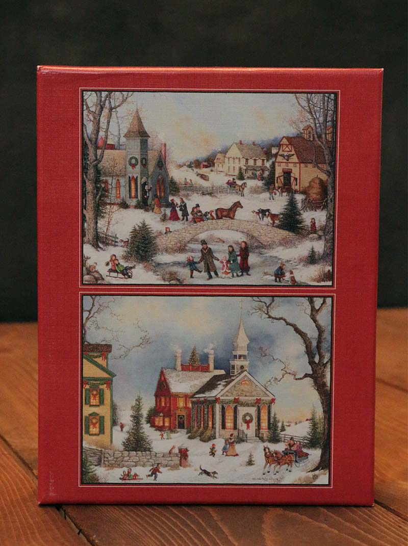Folk Art Holiday Assorted Boxed Christmas Cards, by Lang - The Weed ...