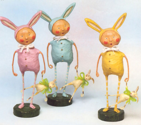 Bunnyskins Trio, by Lori Mitchell