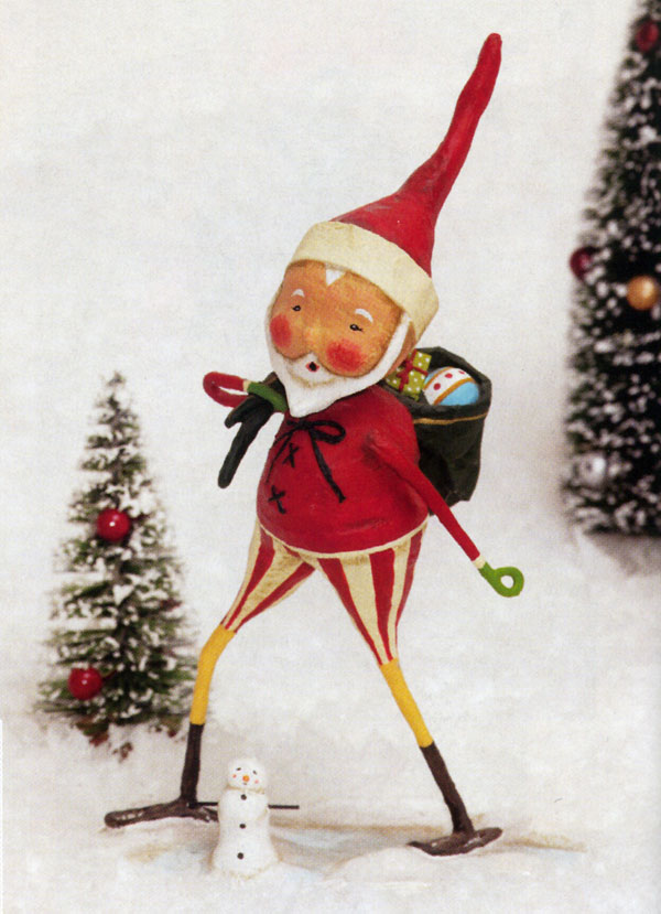 Snow Shoe Santa, a Lori Mitchell design for ESC Trading Co.