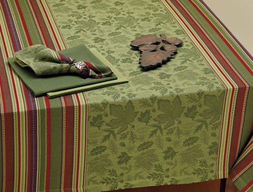 Autumn Leaves Jacquard Tablecloth,