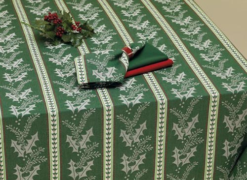 Noel Stripe Jacquard Tablecloth, by DII