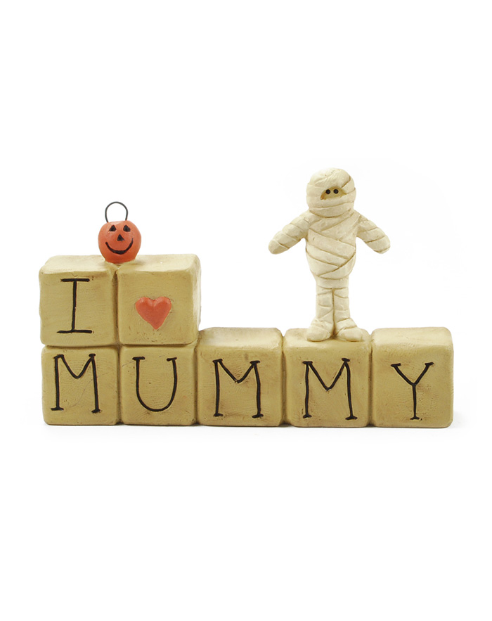 I Love Mummy Halloween Block