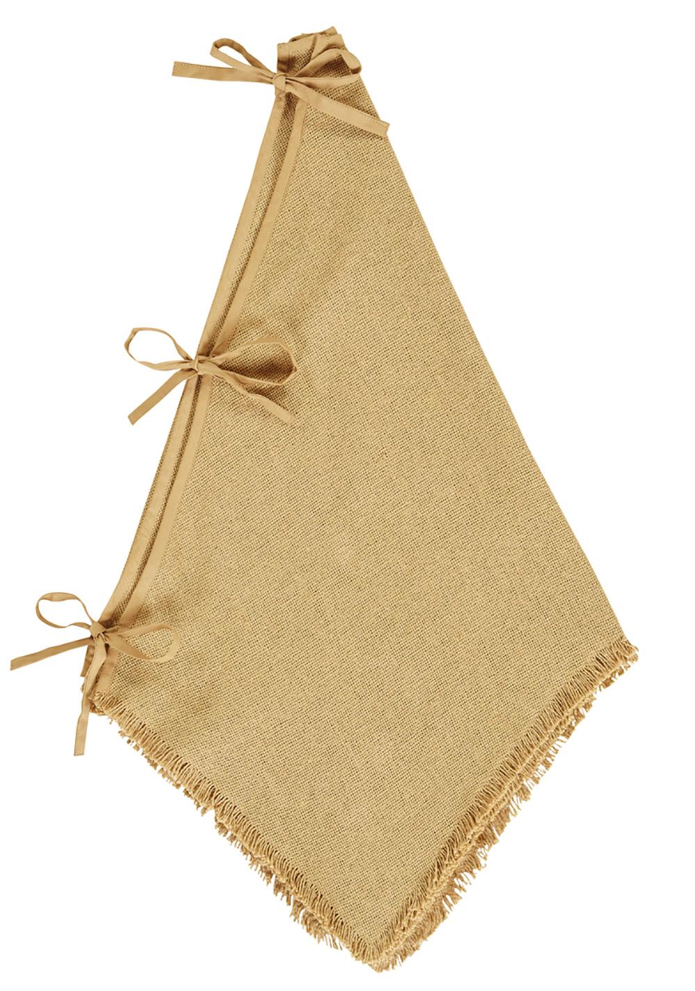 burlap natural mini tree skirt