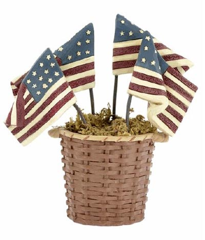 Basket of Flags, by Blossom Bucket