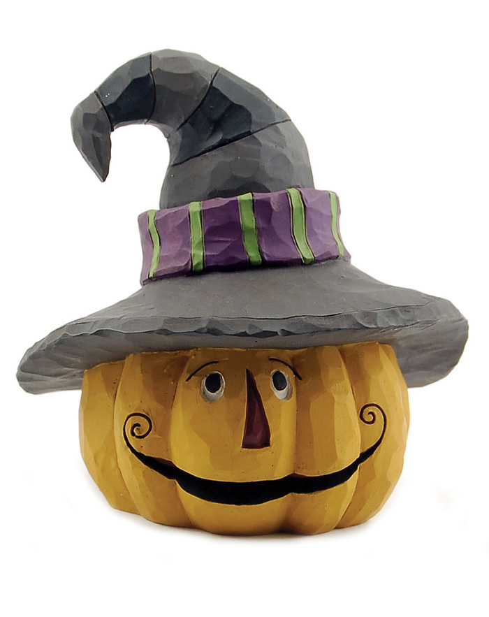 Jack O\&#039;Lantern with Witch Hat LED, by Blossom Bucket