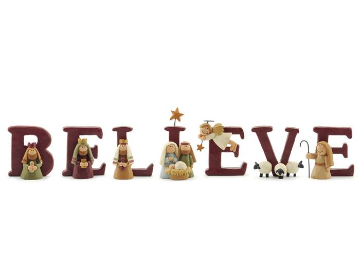 Believe Nativity Set, by Blossom Bucket