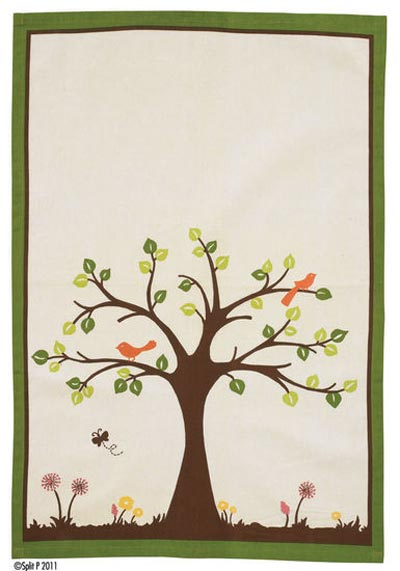 Nature\'s Garden Dishtowel, by Split P